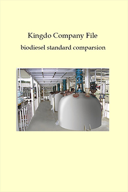 Kingdo Company File biodiesel standard comparsion