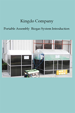 Kingdo Company Portable Assembly Biogas System Introduction