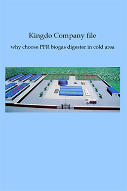Kingdo Company file why choose PFR biogas digester in cold area
